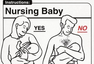 Nursing Baby. Mom breast feeding: Yes. Dad breast feeding: No.
