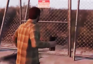 guy blows up fence and gate doesn't fall