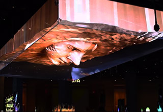 3d animated video face at sls las vegas
