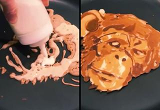 chimpanzee pancakes
