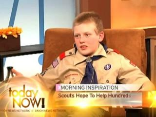 Boyscout on a Morning show.