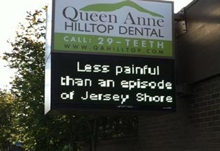 funny dentist office sign