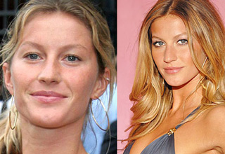 gisele bundchen before and after makeup