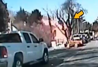 police dash cam captures explosion