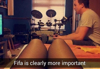 girl in lignere, fifa is more important