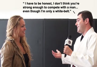 guy talking smack to mma fighter ronda rousey