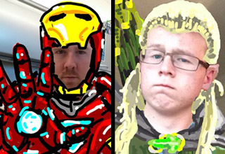 iron man and legolas snapchats