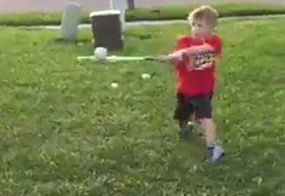 kid hits line drive