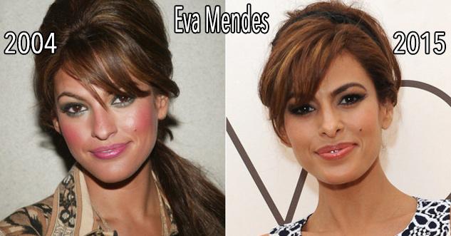 Eva Mendes in 2004 looking the same as in 2015