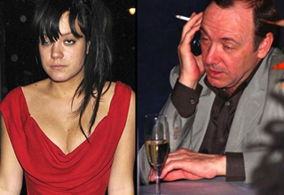 Lilly Allen and Kevin Spacey drunk