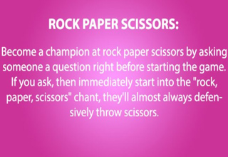 Trick to always win Rock, Paper, Scissors