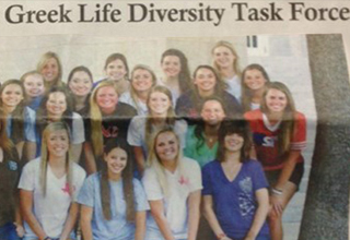 Greek Life Diversity Task Force is filled with only white girls.