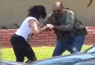 woman being attacked by us marshall
