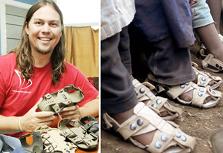 Guy Invents Sandals That Grow 5 Sizes In 5 Years