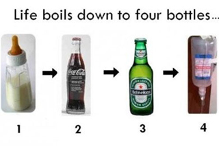 Life boils down to four bottles...