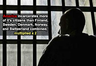 america incarcerates more of it's citizens than finland sweden and denmark combined