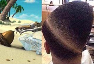 Haircut looks like an acorn from Ice Age.