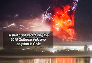 calbuco volcano in chile