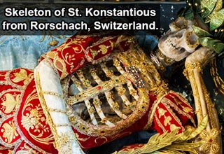skeleton of st. kinstantious from rorschach, switzerland
