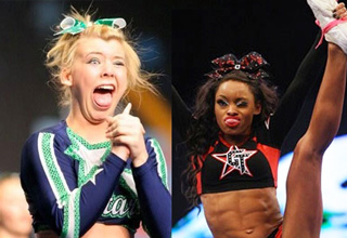 cheerleaders making funny derp faces