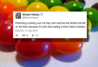 parenting is telling your kids not to eat something that