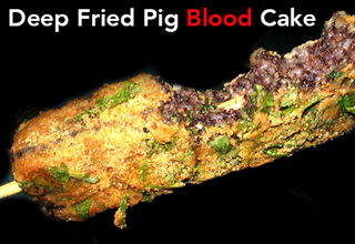 deep fried pig blood cake