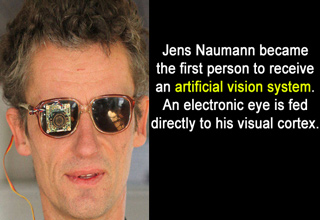 jens naumann with artificial vision system
