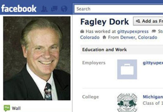 facebook profile of fagley dork