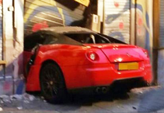 ferrari crashed into storefront