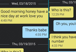 Text message starts normal and then quickly gets crazy