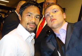 Steve carruthers and mannny pacquiao