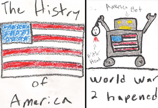 american flag drawing by 5 year old, america bot