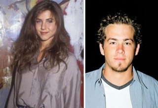 Jennifer Aniston and Ryan Reynolds in the 90s