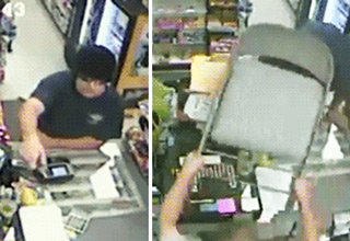 robber getting instant justice