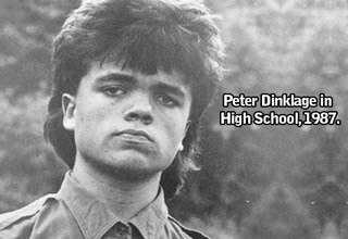 a photo of actor peter dinklage in high school