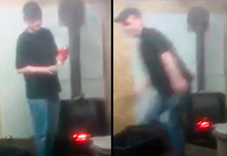 Throwing A Can of Axe Into A Fireplace - Darwin Awards Video ...
