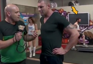 man being interviewed at gym