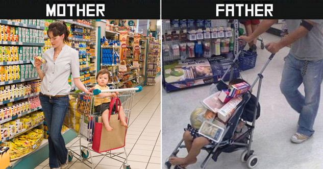 10 Difference Between Mothers and Fathers Taking Care of Kids