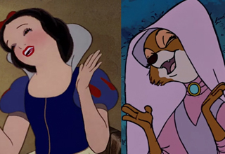 Snow White looks like the fox princess from Robin Hood
