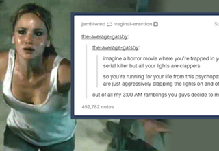 jennifer lawrence and a tumblr post