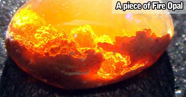 a piece of fire opal