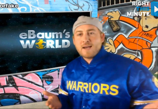 mac dreidel wearing a golden state warriors jacket on rightthismi
