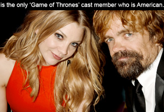 peter dinklage is the only game of thrones cast member who is american