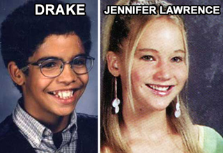 drake and jennifer lawrence yearbook photos