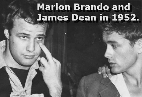 marlon brando giving the finger with james dean