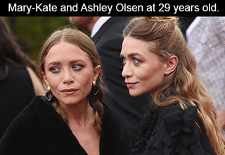 mary-kate and ashley olsen at 29 year