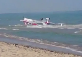 small plane that crashed into the ocean