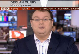news anchors name and title say declan curry nobody car