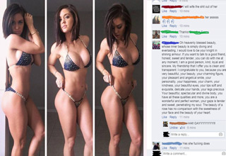 hot fitness model facebook post
