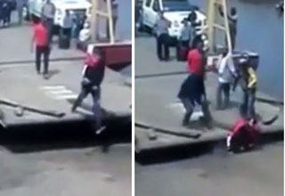 Clumsy Guy Almost Crushed To Death By Ferry